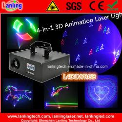 1W RGB Disco DJ positionieren Animation-Laser für Nachtklub-Partei