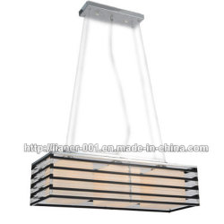 شعبيّة أكريليكيّ حديثة مدلّاة إنارة مصباح لأنّ [دين رووم] مع ظل زجاجيّة أبيض