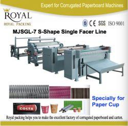 Linha de produção de papelão ondulado Single Facer em forma de S, fabricação de copos de papel