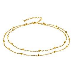 تقليد مجوهرات نوع ذهب يصفّى [روس] نوع ذهب [ستينلسّ ستيل] خلخال سوار نمط [جولّري] يجعل عقود كبّل