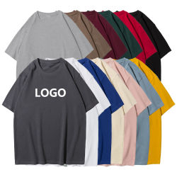 특대형 드롭 어깨 100% 면 스크린 프린트 일반 중량급 사용자 지정 티셔츠 프린팅 블랭크 플러스 사이즈 남성용 S 티셔츠
