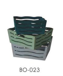 Embarcação de madeira Vinho de armazenamento a cestaria com pega
