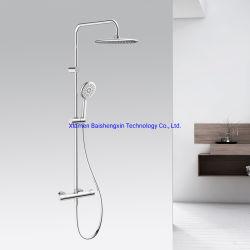 LYQ1001-Sanitair Badkamer Product op de muur gemonteerd Messing Chrome Thermostatisch Bad Rain Shower Mixer tapkraan Doucheset