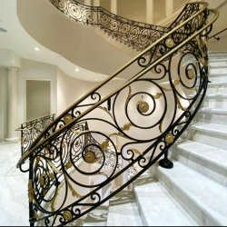 Вилла с декоративными роскошь старинными лестницами поручни для использования внутри помещений из кованого железа лестницы ограждения