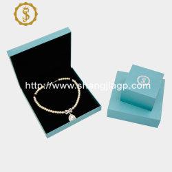 목걸이 반지를 덮고 있는 사용자 지정 도매 고품질 팬시 용지 로고가 있는 보석 선물 상자