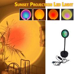 Современный алюминиевый корпус Mini Smart LED робота красочные лампа регулируемый Halo многоцветные RGB лампы на закате проекции