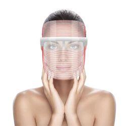 Mascherina facciale di bellezza della mascherina 3 LED di terapia chiara di colore LED di trattamento 3 dell'acne della grinza di cura di pelle