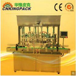 Halb automatische flüssige Kolben-Füllmaschine-/Servokolben-flüssiges Flaschen-Öl-reinigendes Shampoo-desinfizierende Bleiche-flüssige Seifen-Reinigungsmittel-Ätzmittel-Maschine