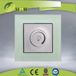 مفتاح التحكم الكهربائي للوحة الزجاج القياسية في أوروبا LED ثنائي الاتجاه قم بالتبديل باستخدام زر الضغط