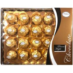 cioccolato di lusso dell'arachide di buona qualità di prezzi di disegno del quadrato del diamante 20PCS
