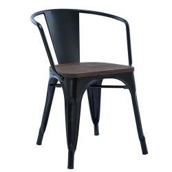 De Metal mayorista apilables sillones de hierro evento Chiavari boda silla con asiento de madera