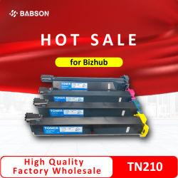 Konica Minolta Bizhub 552/652 Konica Minolta Bizhub C250/C252 Cartucho de tóner de impresora en color 4 con Chip TN210K TN210C210m Tn TN210y