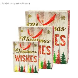 الصين الجملة فاخرة الطباعة أزياء عيد الميلاد هدايا التغليف الشريط مقبض حقائب تسوق ورقية