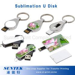 Сублимация тонкий прямоугольник карточки Форма цепочки ключей диск USB Flash Disk
