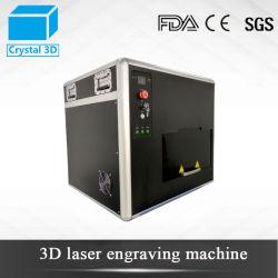 كريستال جلاس 2D 3D داخلية كبيرة الحجم ليزر آلة نحت