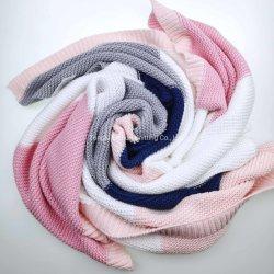 Coperta all'ingrosso personalizzata fabbrica di lavoro a maglia di modo del cotone