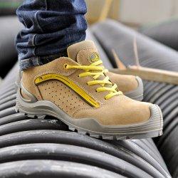Moda Safetoe homens trabalham botas militares de calçado de couro Calçado de segurança