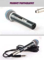 La máxima calidad vocal Supercardiode Dynamic micrófono con cable 58 Beta para el estudio de grabación de rendimiento de la etapa de Karaoke