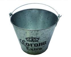 Corona Logo de Marque du fer galvanisé seaux à glace pour le refroidisseur de vin