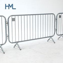 Linea di recinzione d'acciaio di controllo di folla della strada di sicurezza di obbligazione di traffico della polizia del metallo pedonale di evento barriere