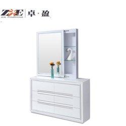 Парикмахерский салон мебели белого цвета современной спальне составляют таблицу с наружного зеркала заднего вида для хранения и 6 выдвижными ящиками