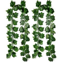 실크 인공적인 담쟁이는 가정 채마밭 사무실 당 결혼식 벽 훈장을%s 잎을 거는 가짜 푸른 잎 화환을 떠난다