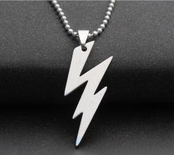 Pendente Pendant d'acciaio di titanio dell'acciaio inossidabile del lampo della collana degli uomini