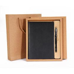 Boek van de Sluitnota van het Leer van de aanpassing het Elegante Met Pen voor Zaken