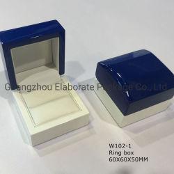 Duas cores elegantes jóias de madeira caixa de embalagem de artesanato em madeira