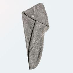 قبعة حمام سبا من ألياف الخيزران سريعة الجفاف منشفة الشعر منشفة
