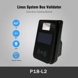 4G Billetterie Paiement NFC Code QR Reader lecteur de carte de bus avec l'affichage (P18-L2)