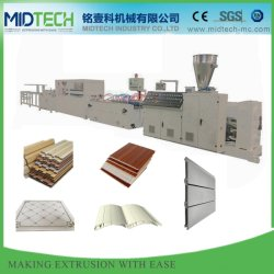 Automatic Plastic PVC/PVC/WPC Plafondpaneel/Wandpaneel/omheining/portierpaneel/randbanden/Hoekkrop/Decking/Roller Sluiter/kabel Trunking Profiel Making machine