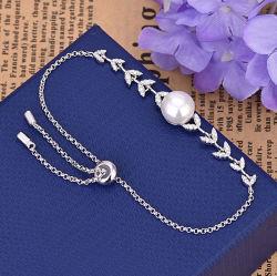 À la mode nouveau style de bracelet avec Diamond, fleur et Pearl