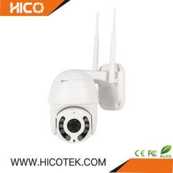 1080p 방수 4X 줌 미니 PTZ 돔 자동 트래킹 IP CCTV 카메라 홈 보안 무선 WiFi ONVIF 휴머노이드 감지 알람 오디오 시스템
