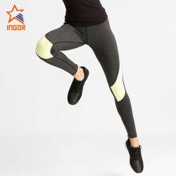 La migliore yoga di vendita di compressione delle donne ansima le calzamaglia molli in bianco su ordinazione delle signore