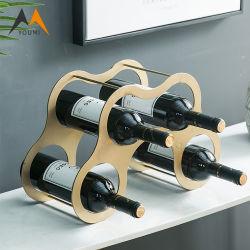 Cremagliera di visualizzazione fissata al muro personalizzata alta qualità del vino dell'acciaio inossidabile