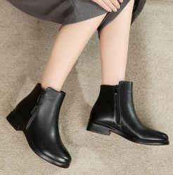 우연한 가죽 신발 Mama가 면에 의하여 안락 Boots 9619 구두를 신긴다