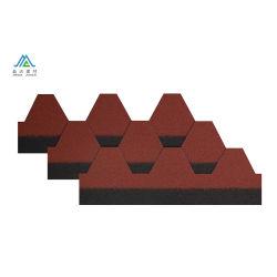 Dakspaan van het Dakwerk van Glassfiber van de Tegel van het Dak van het Asfalt van de Steen van het Type van mozaïek de Hexagonale Spaanders Met een laag bedekte