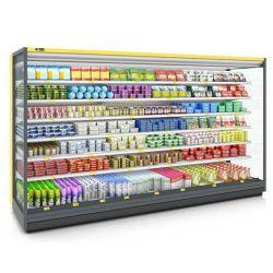 Refrigeratore commerciale di Multideck refrigerato frutta del Governo di illuminazione del LED