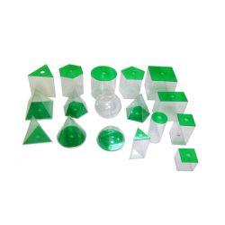 5cm 10cm 17 Formas de plástico en 3D de sólidos geométricos