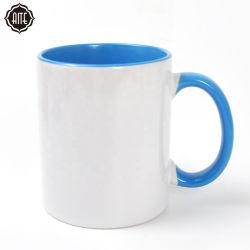Ceramische Mokken van de Sublimatie van de Kop van de Koffie van het Porselein van de Kleur van de Familie van de Druk van de Douane van de bevordering de Witte Lege