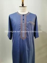 Marruecos manto túnica Islámica Thobe árabe musulmana túnica árabe de los hombres