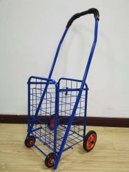 عربة الدلفلة المتنقلة سوبر ماركت الصينية يمكن طيها وتسوق الحامل المتحرك