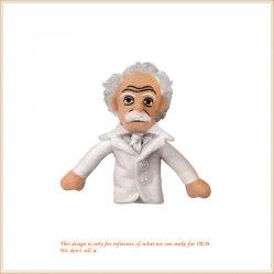 Homem com cabelo grisalho boneca fantoche de pelúcia fantoche de dedo