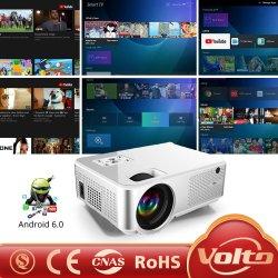 Amazon mejor venta vídeo Full HD de alto brillo LED LCD Proyector portátil inteligente