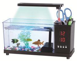 ABS van de Desktop USB de AcrylTank van de Vissen van het Aquarium met LEIDENE licht waterpomp