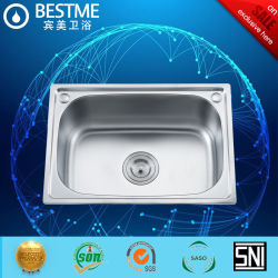 Küche Edelstahl-Waschbecken mit einem Waschbecken (BS-329-201 P)