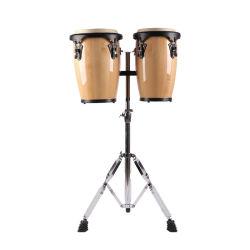 Educación Musical de percusión Instrumentos de juguete para niños tambor sintonizable pandereta de madera