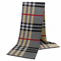 الجملة الكلاسيكية الرجال ندب الشتاء سهل كاش مكري Wool Knit الرجال وشاح مخصص مع وشاح مطبوع مخصص حسب الشعار