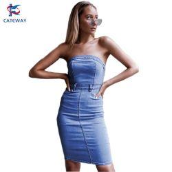 Abito in jeans denim moda donna/donna con bodycon OEM/ODM